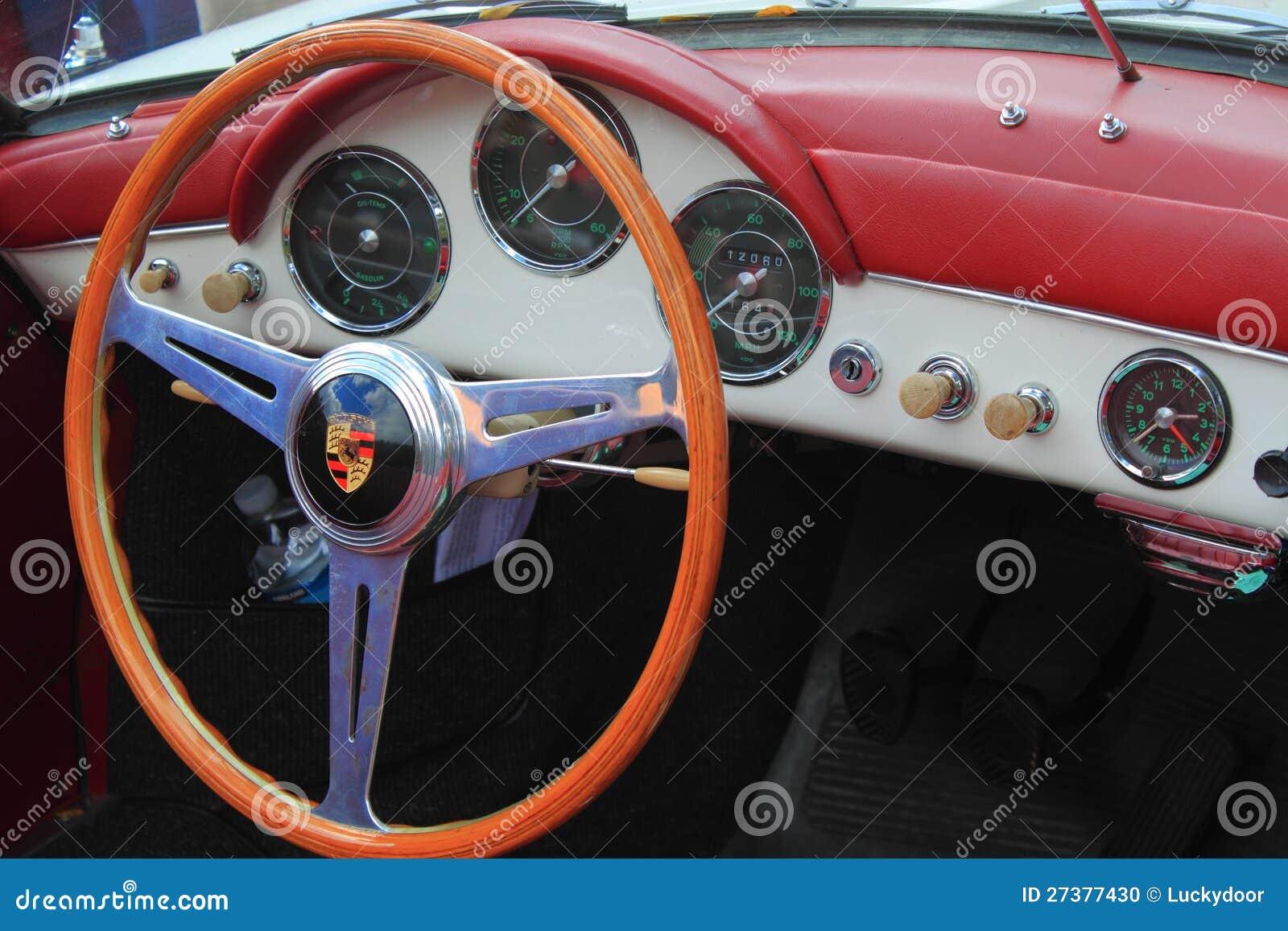 antique porsche car interior editorial image 27377430. Black Bedroom Furniture Sets. Home Design Ideas