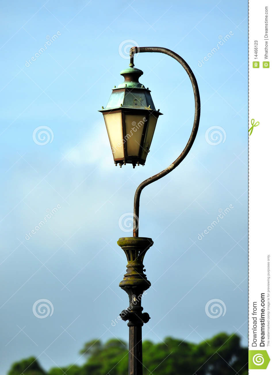 Antique Question Mark Shaped Lamp Post Stock Image Image Of Metal Blue 14466123