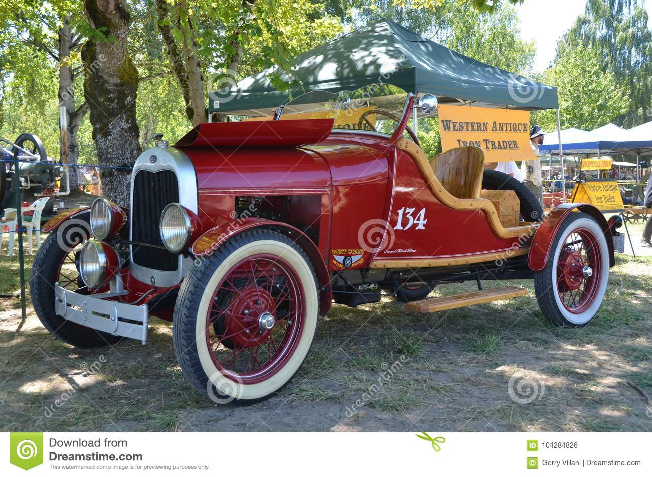 A Red Antique Race Car Brooks Oregon Editorial Photo Image Of