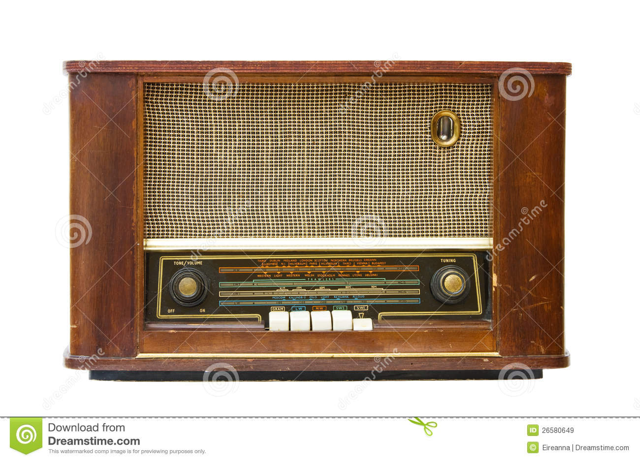 Antique Radio Transistor Royalty Free Stock Images - Image: 26580649