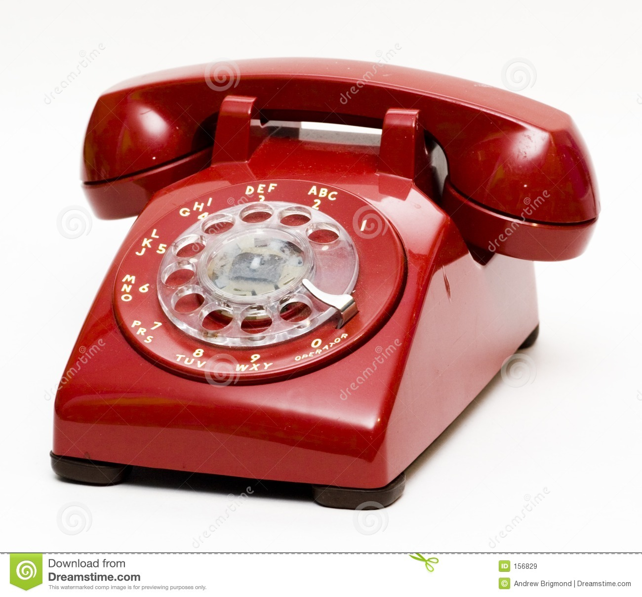 Antique Red Rotary Phone