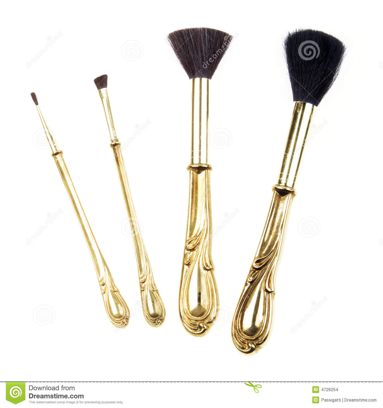 Antique Retro Makeup Brush Set Stock Photo - Image of ...