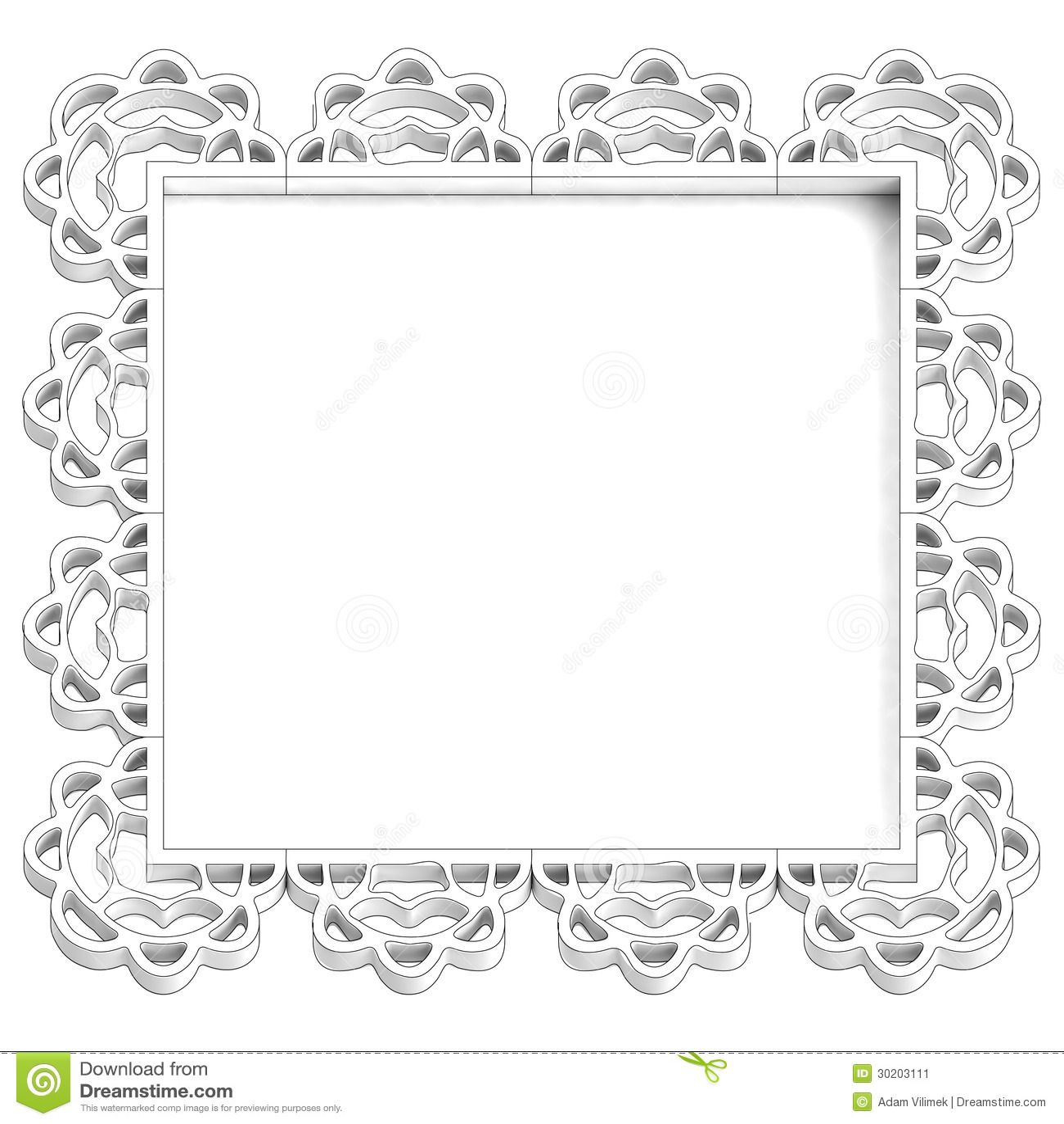 Antique Retro White Frame For Text Stock Image - Image ...