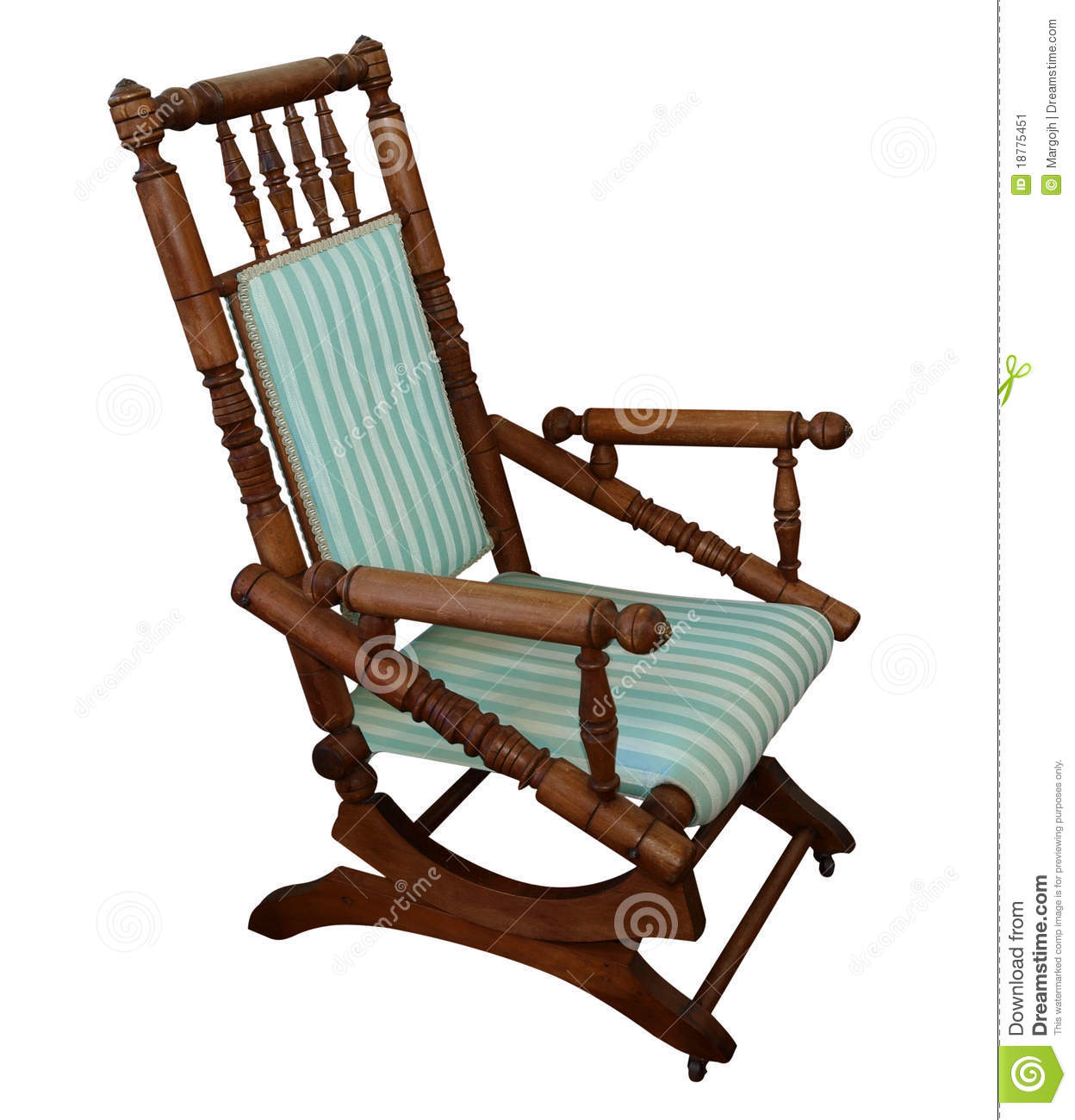 Antique Rocking Chair - Antique Rocking Chair Stock Image. Image Of Armchair - 18775451