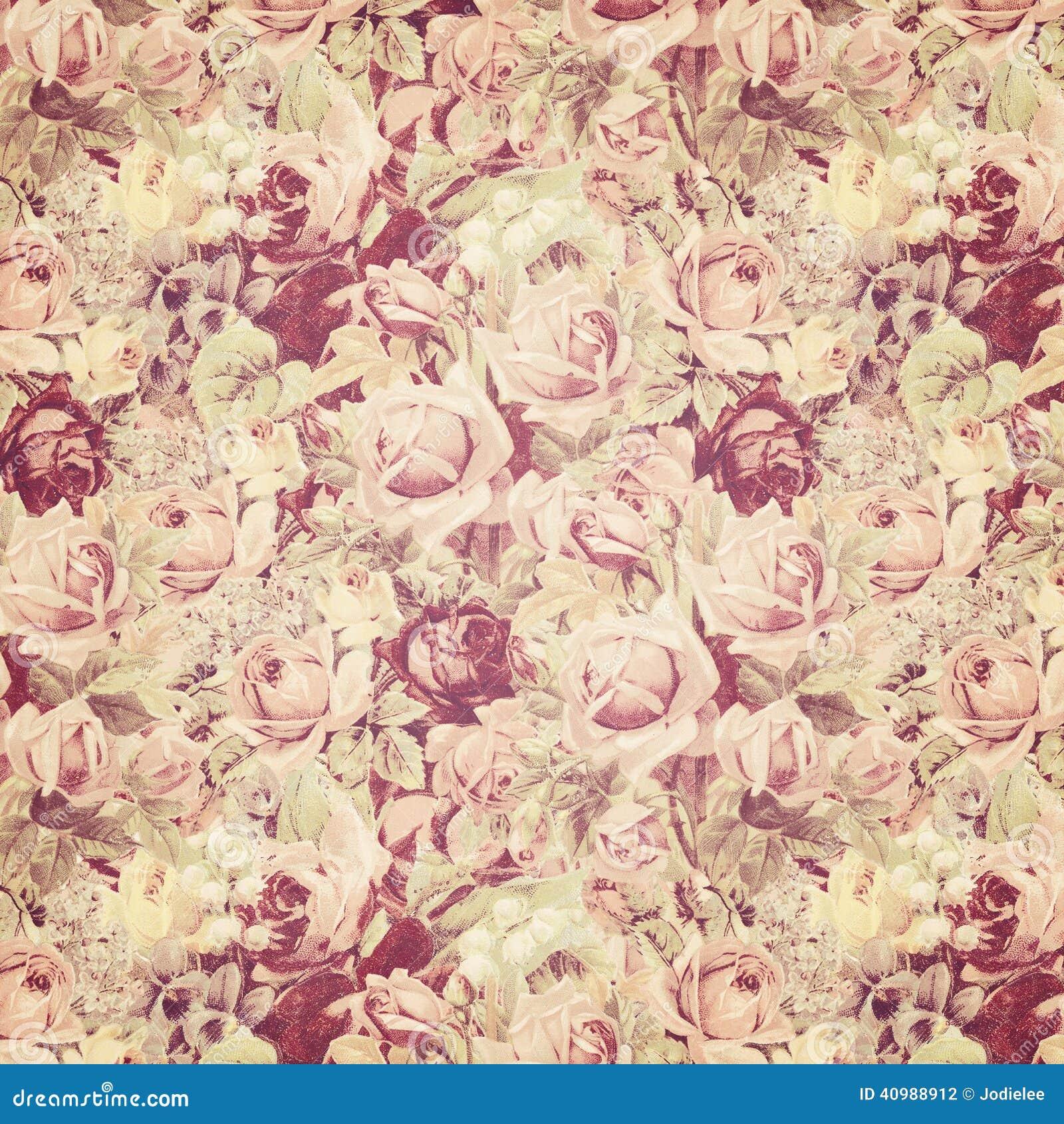 Antique roses wallpaper stock photo image 40988912