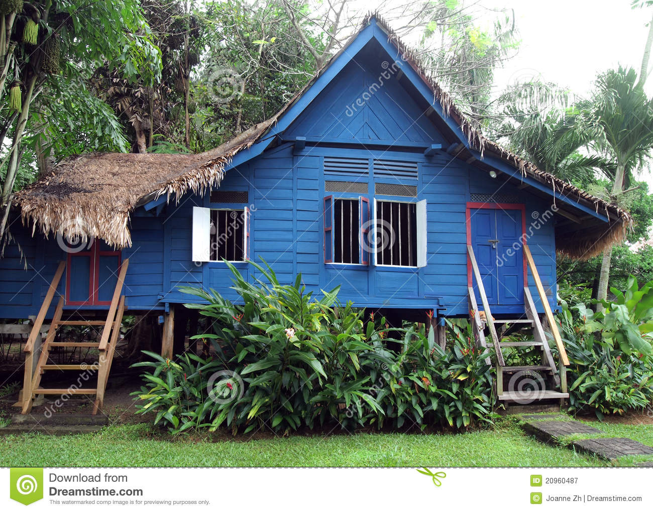 Antique Rural Malaysian Wooden House Royalty Free Stock