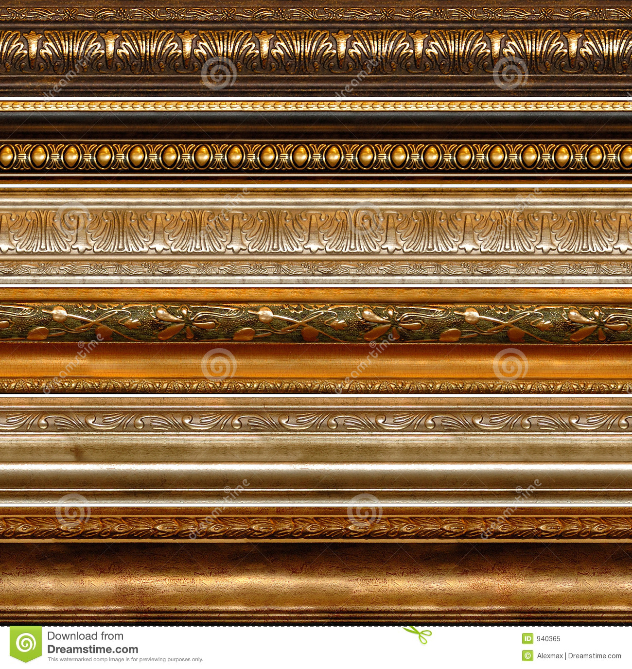 Antique Rustic Decorative Frame Patterns Royalty Free