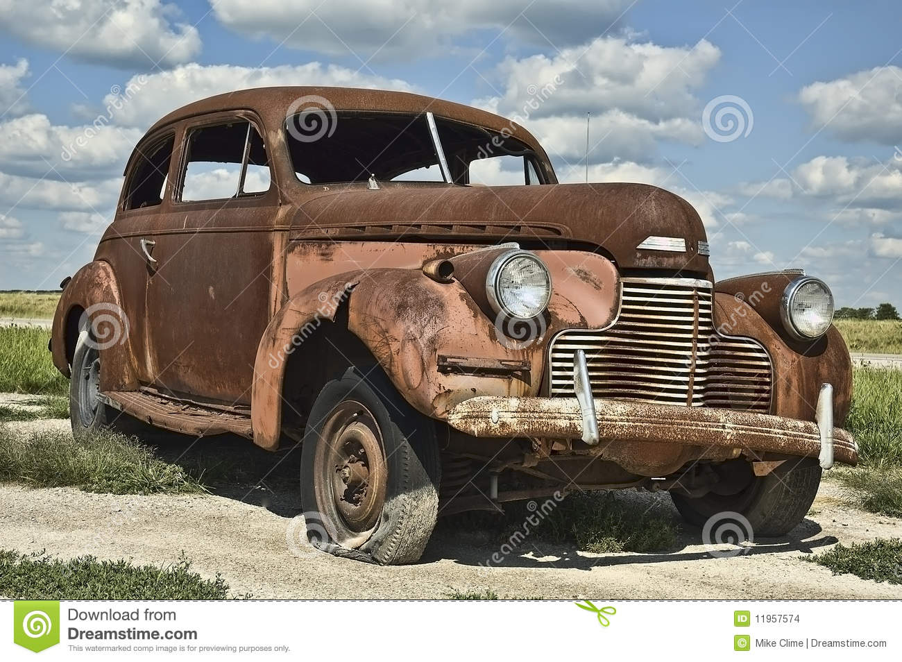 antique rusty old car stock photo image of junkyard 11957574. Black Bedroom Furniture Sets. Home Design Ideas