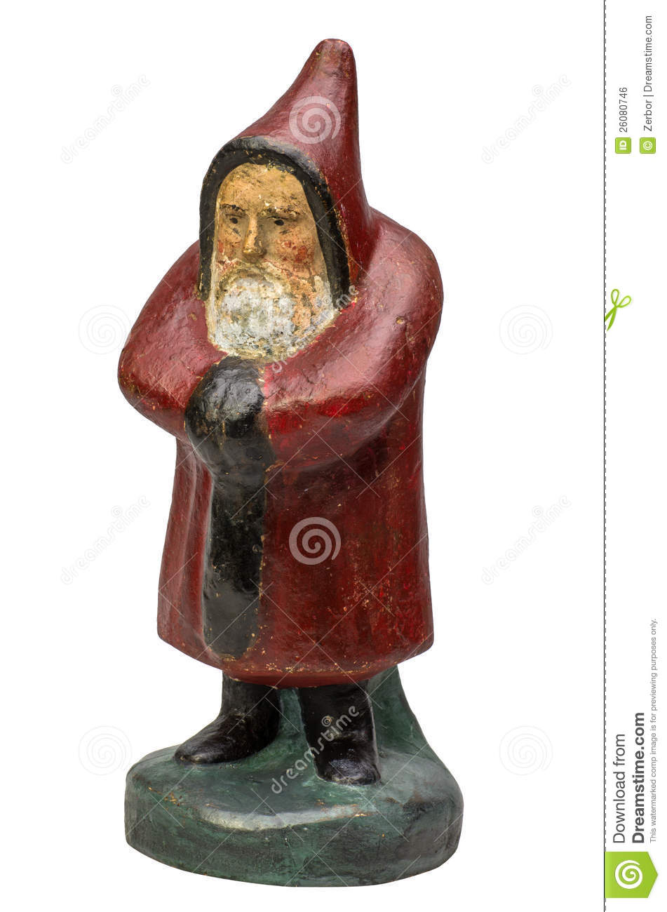 Antique santa claus figurine royalty free stock image