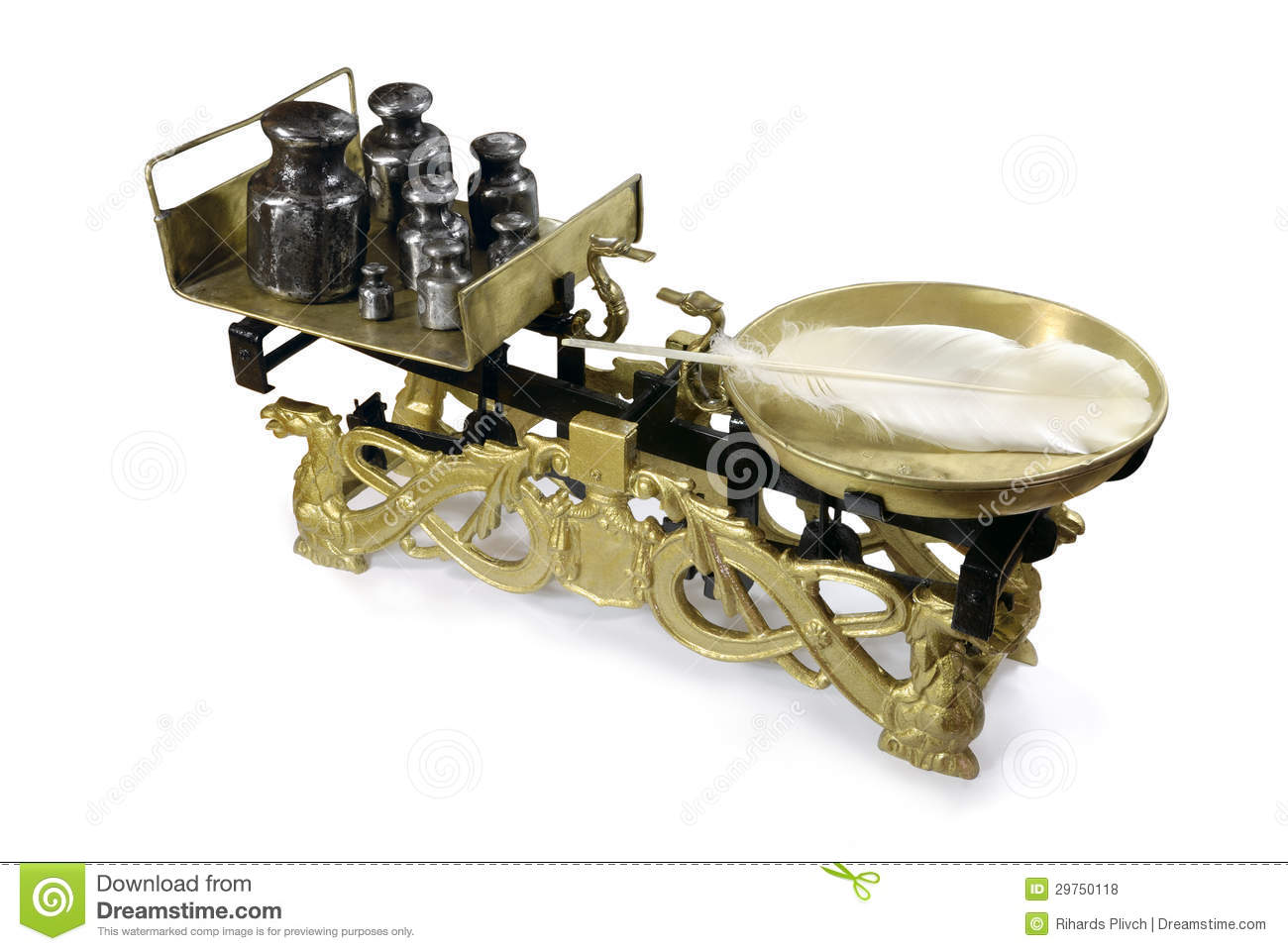 Old Fashioned Weighing Scales Royalty Free Stock Photos