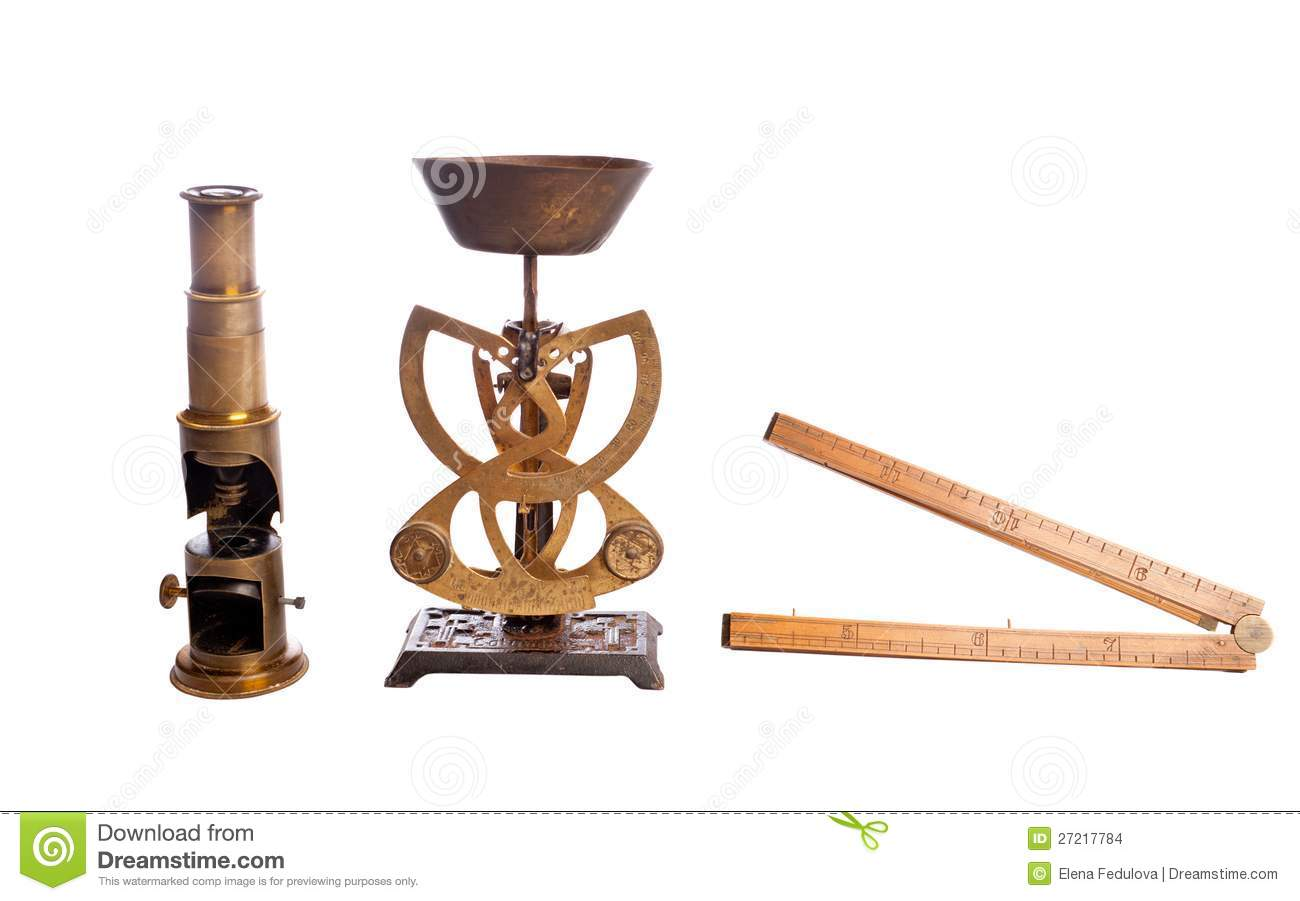 Antique Scales Scale Microscope Stock Images Image