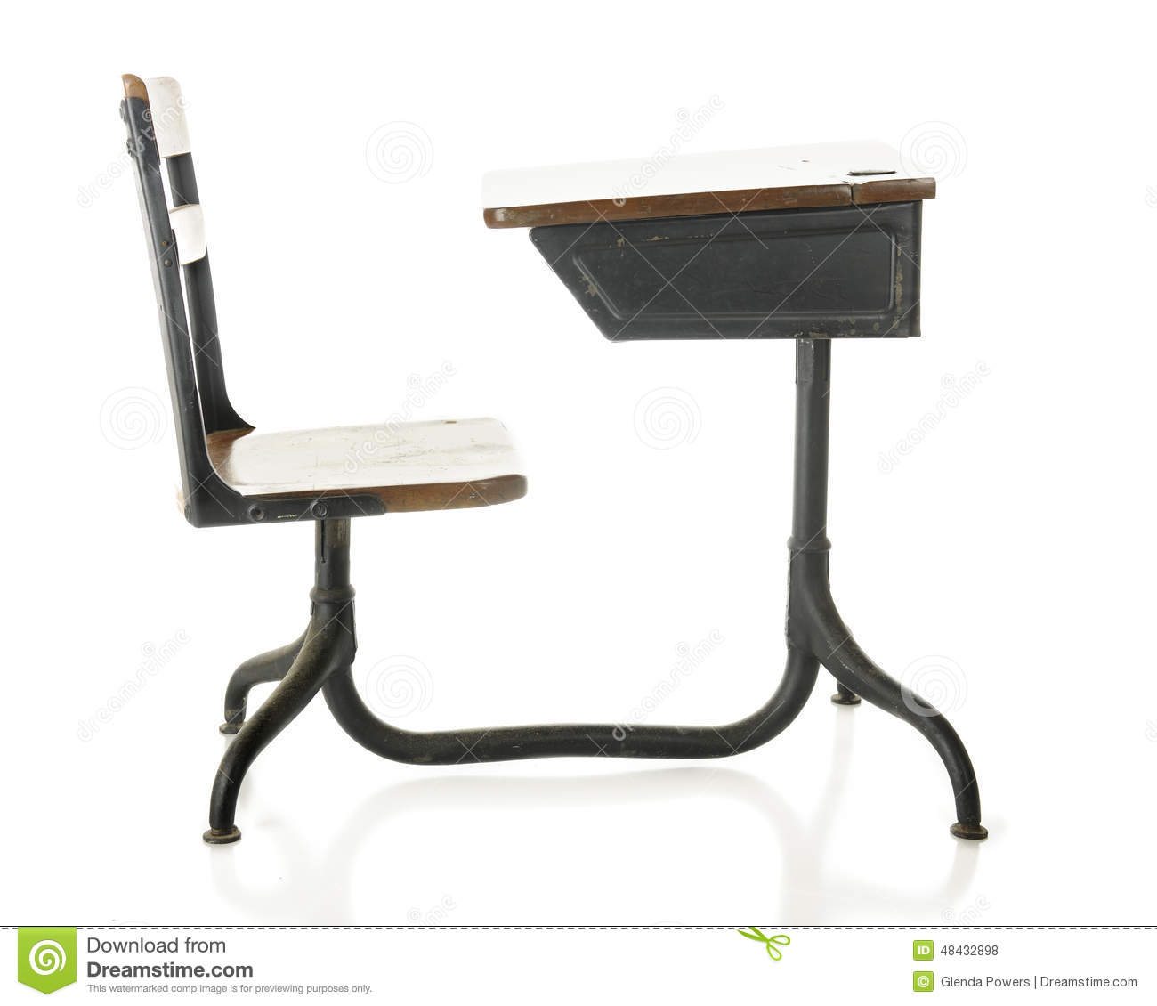 Antique School Desk Stock Photo Image 48432898