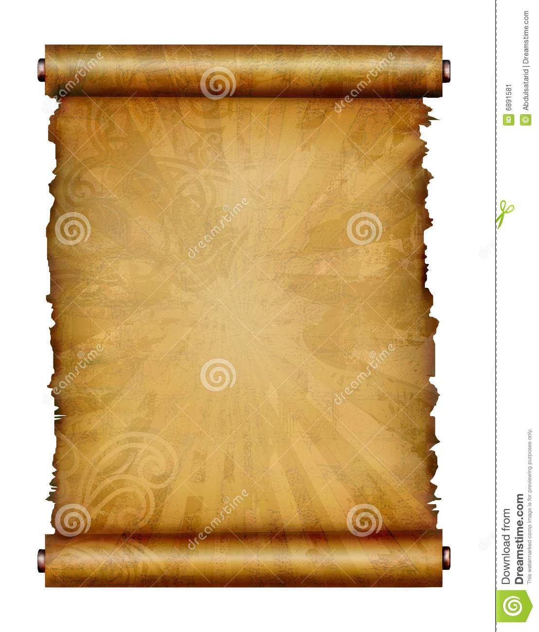 Antique Scrollimgs: Antique Scroll Paper Stock Illustration. Image Of Canvas