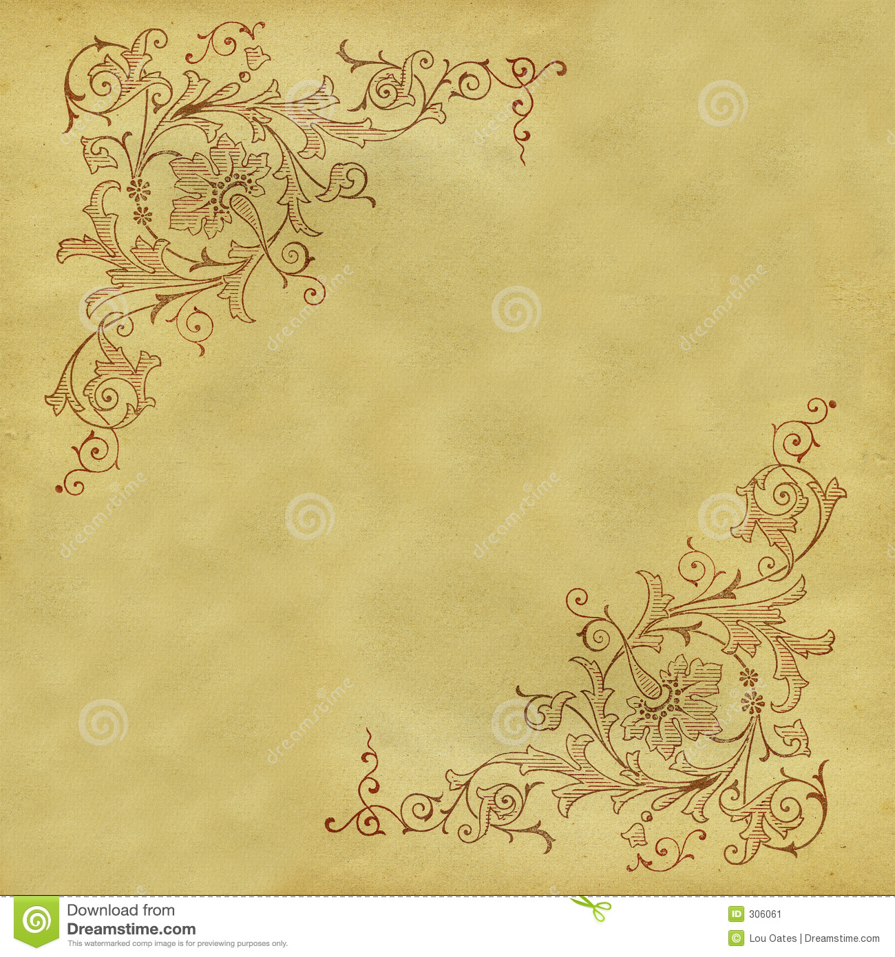 Antique Scrollimgs: Antique Scroll Pattern Stock Image