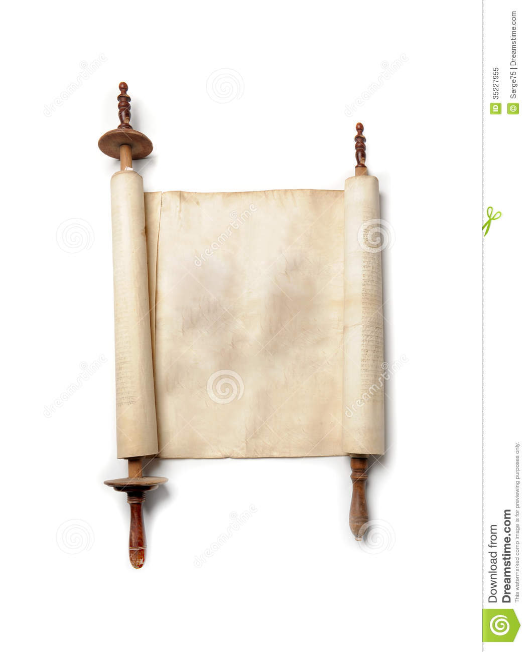 Antique Scroll Paper: Antique Scroll Royalty Free Stock Photo