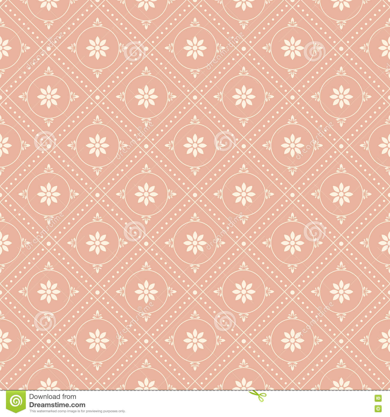 Antique Seamless Background Image Of Vintage Pink Round