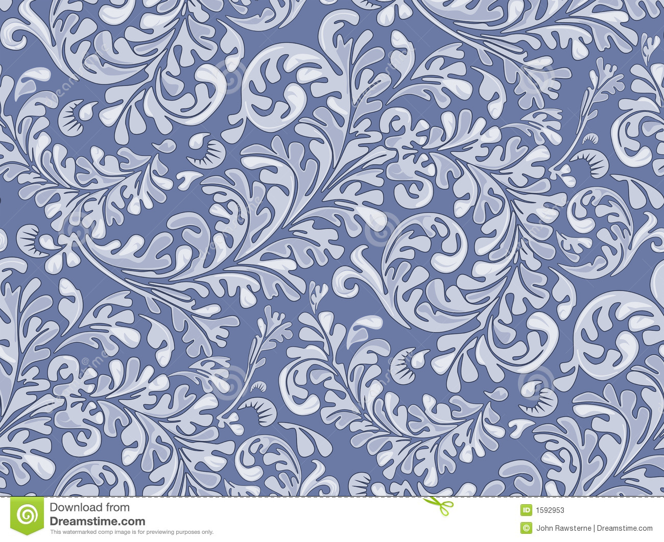 Antique Seamless Wallpaper Pattern Stock Illustration ...