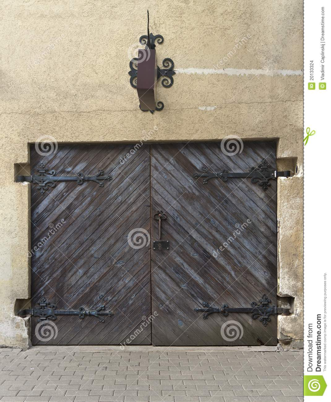 Royalty-Free Stock Photo. Download Antique Shop Door ... - Antique Shop Door (or Garage) In Riga Stock Photo - Image: 20133324