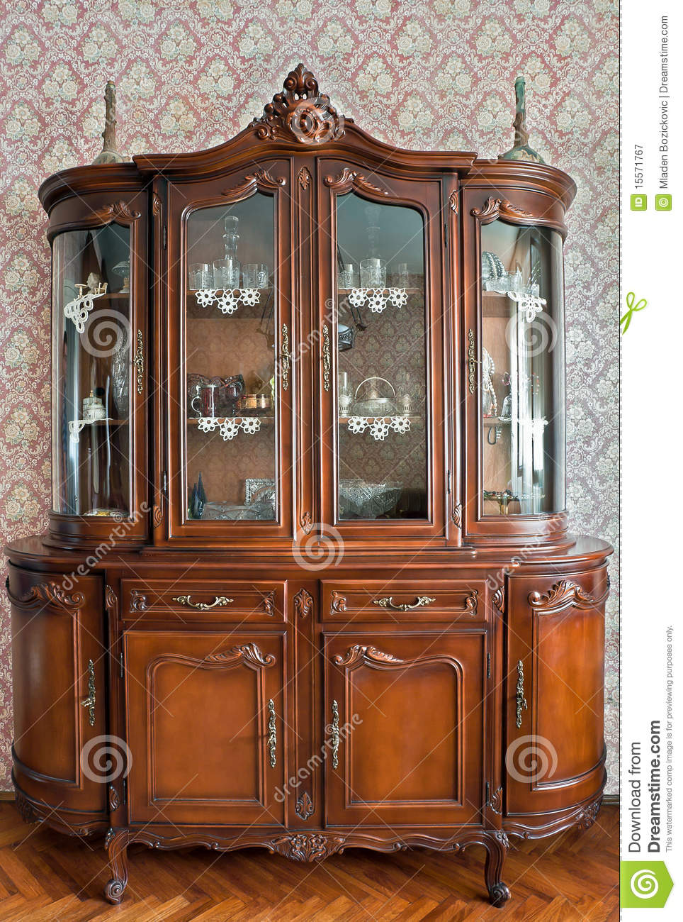 Glass Showcase Designs For Living Room: Antique Showcase Royalty Free Stock Photography