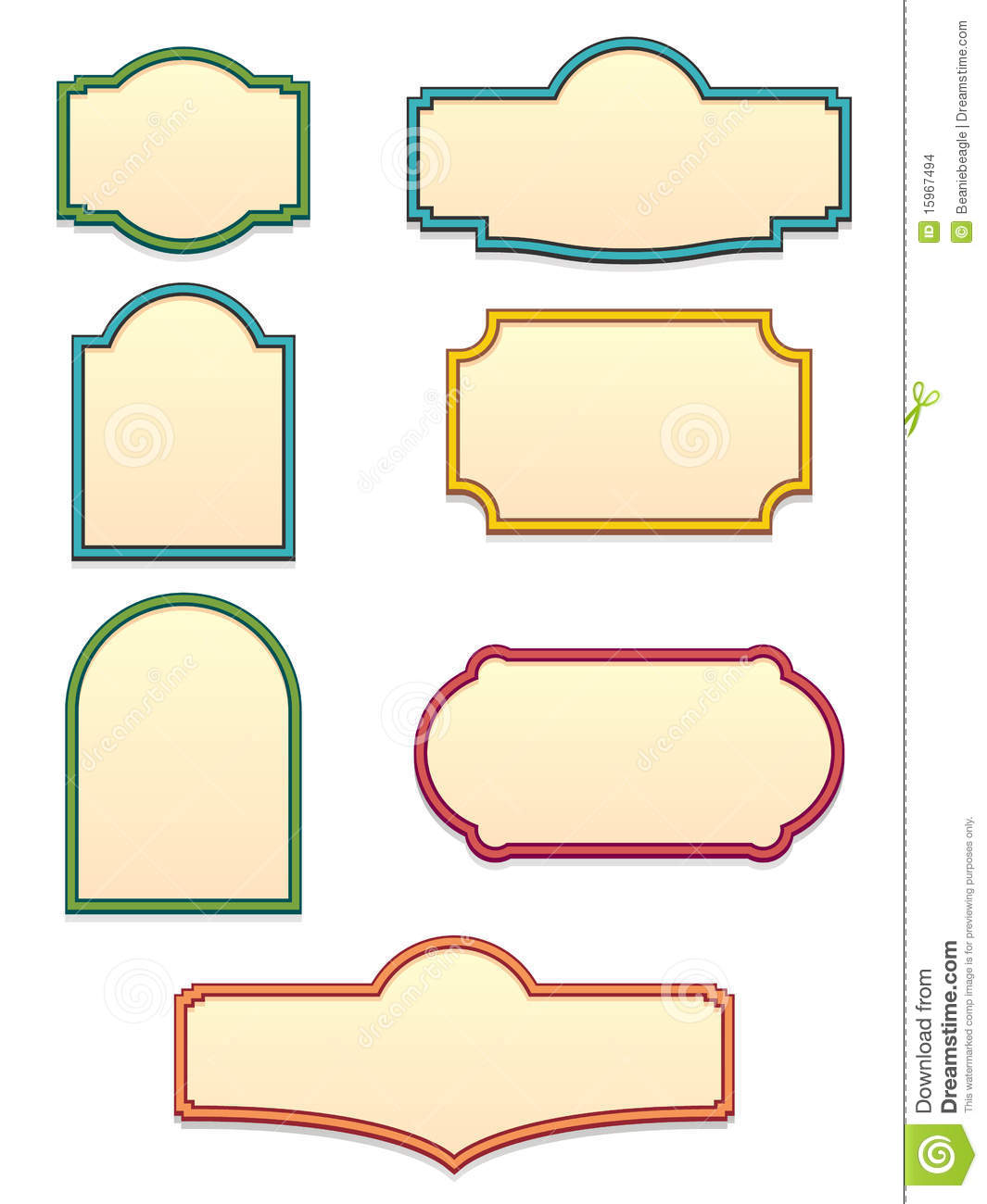 antique sign templates eps stock vector illustration of component