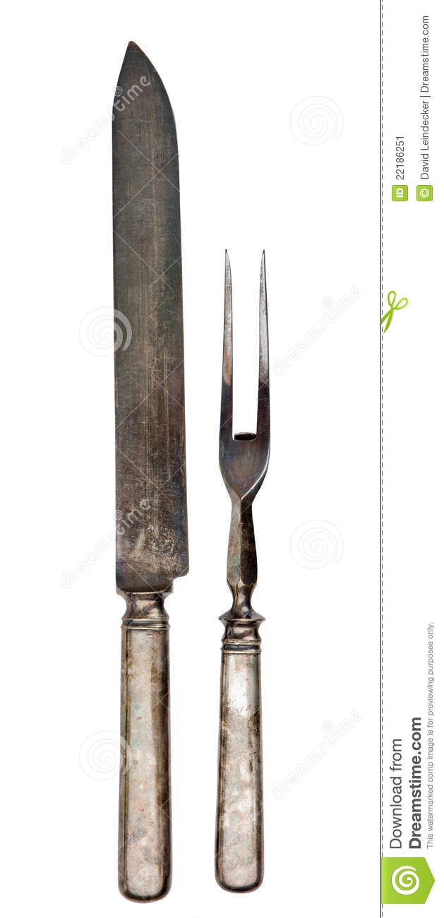 Antique Silver Carving Utensils Stock Image Image 22186251