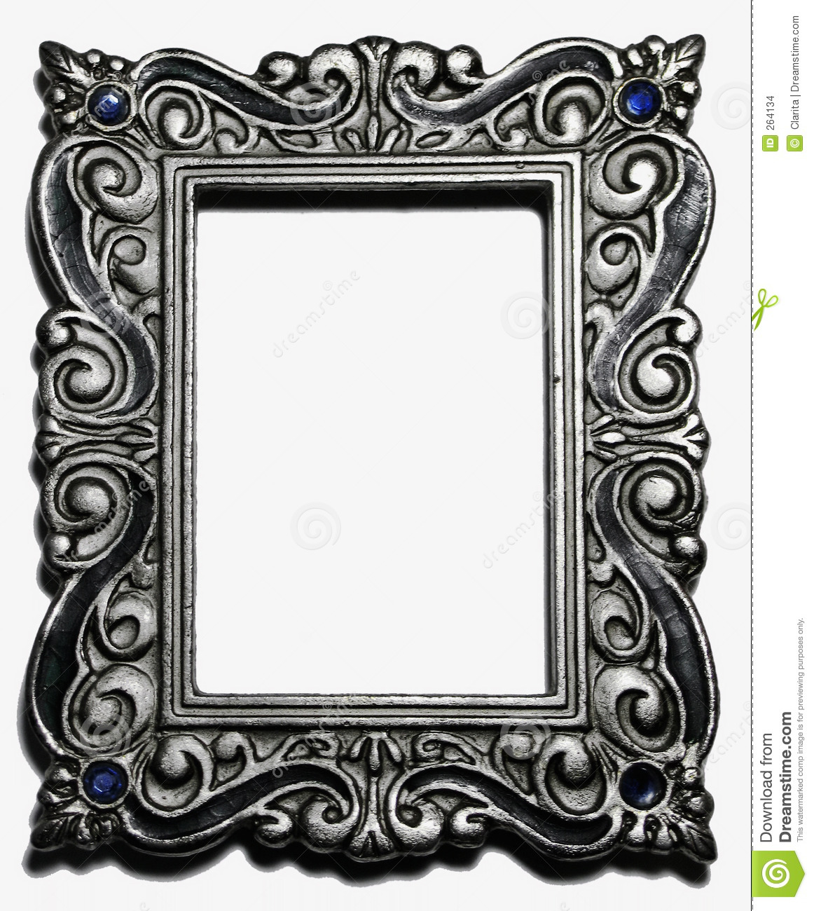 antique silver picture frame stock photo image 264134. Black Bedroom Furniture Sets. Home Design Ideas