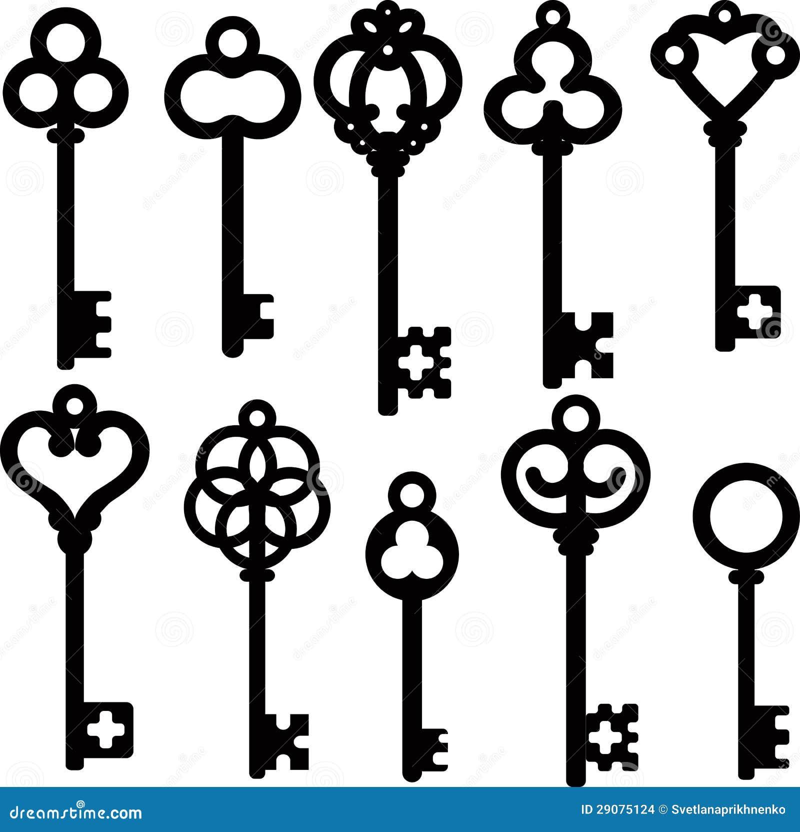 Antique skeleton keys stock photo. Image of metal, old ...