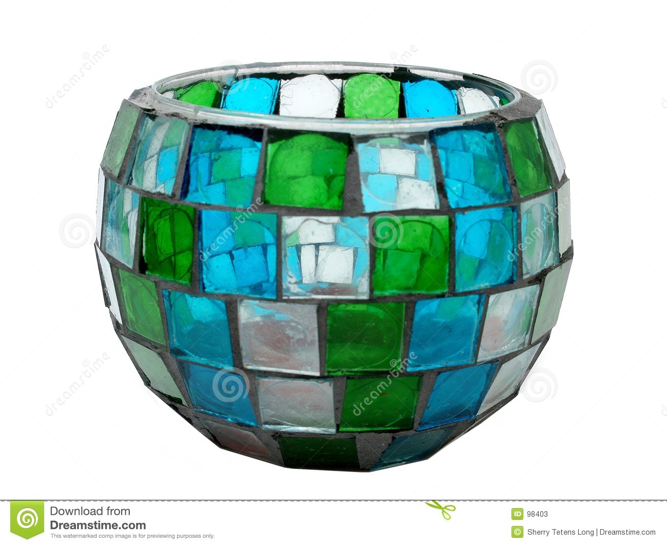Antique Stained Glass Mosaic Candle Holder Stock Image Image Of White Glass 98403