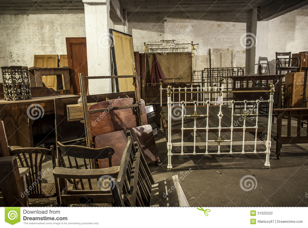 Antique storage stock photography image 31025222 for A furniture warehouse