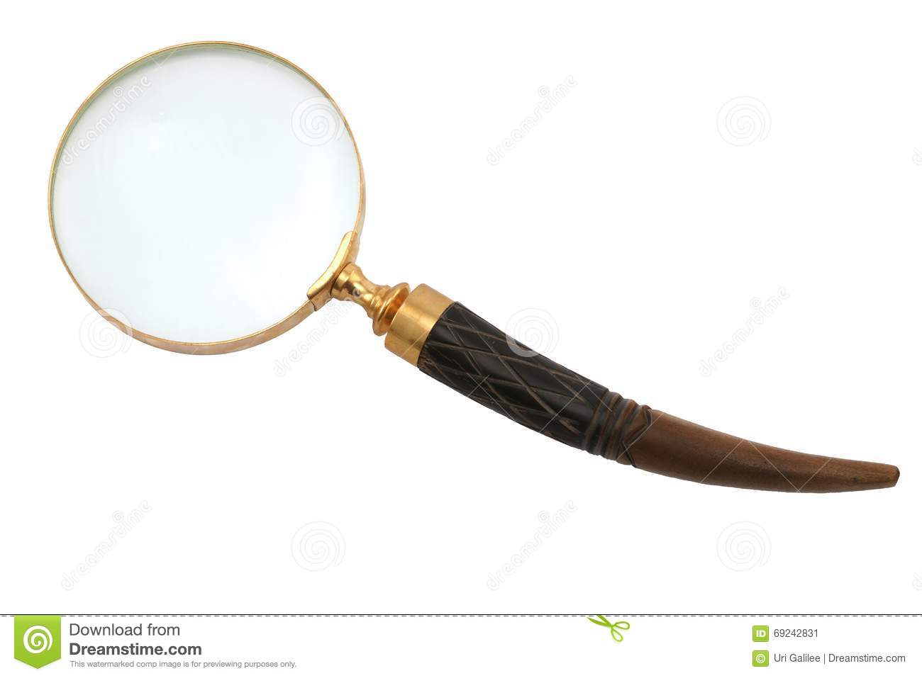 Download Antique-style Magnifying Glass Stock Image - Image of magnifier, magnify: 69242831