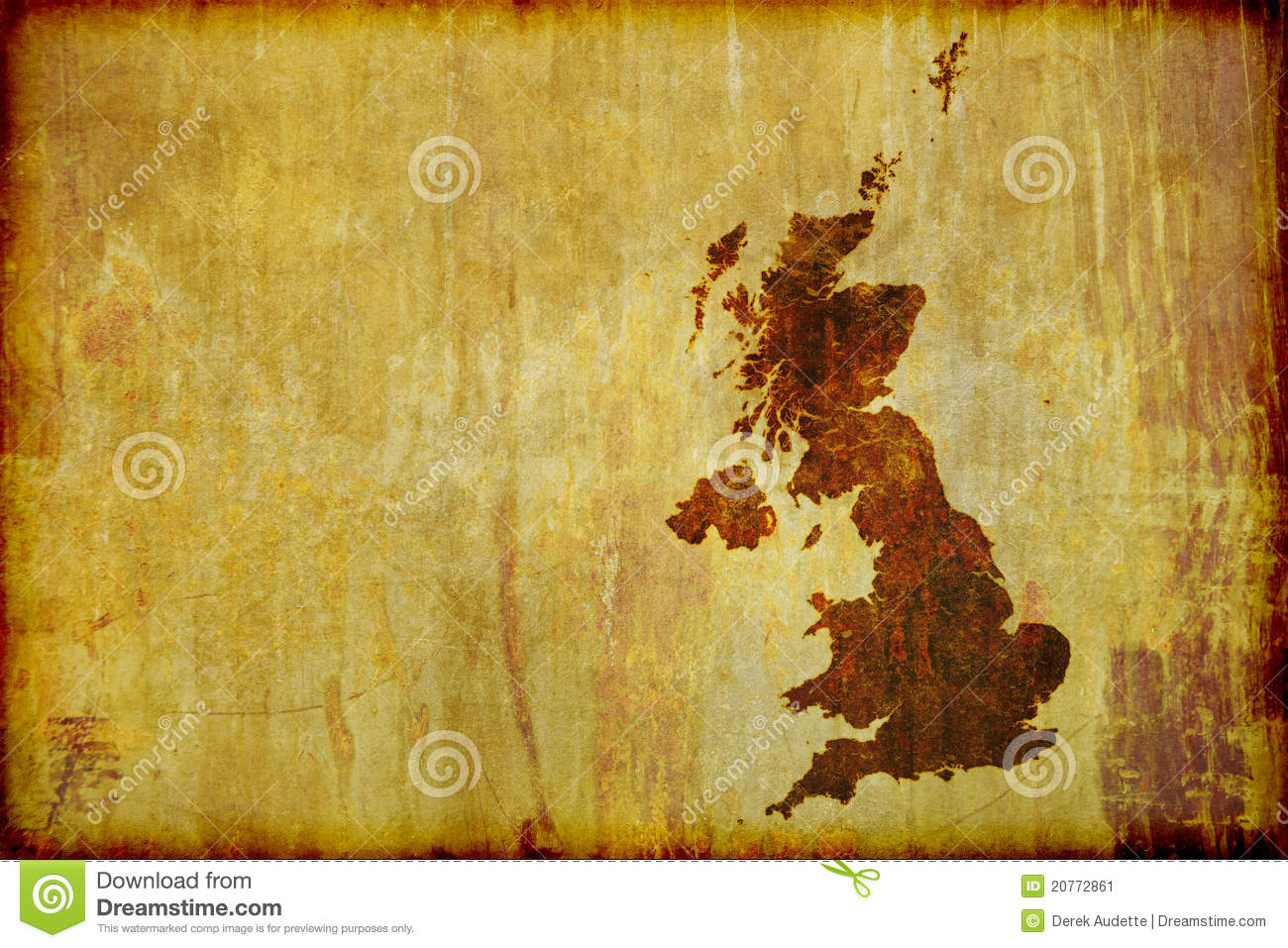 Antique Style Map Of Great Britain Stock Image - Image ...