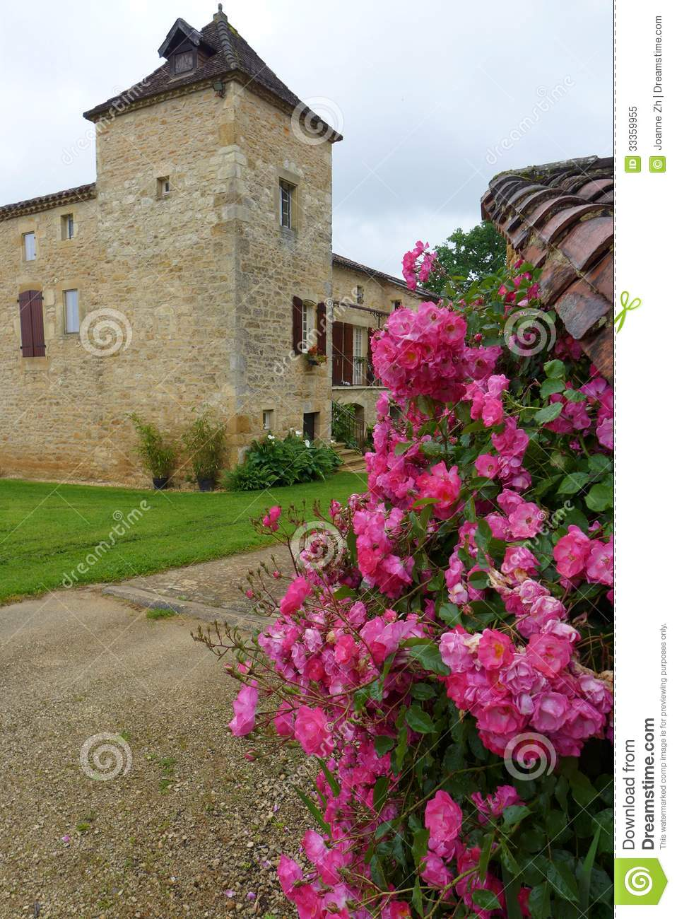 Antique style stone house france royalty free stock photo for Style stone