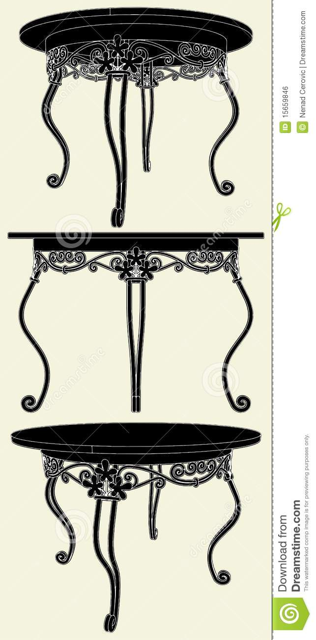 Antique Table Vector 02 Royalty Free Stock Image