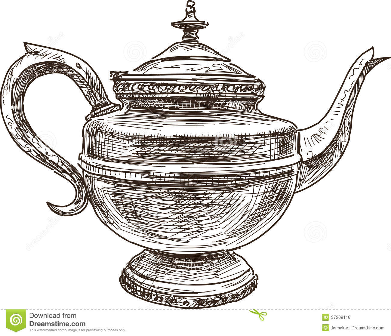 Antique Teapot Royalty Free Stock Image - Image: 37209116