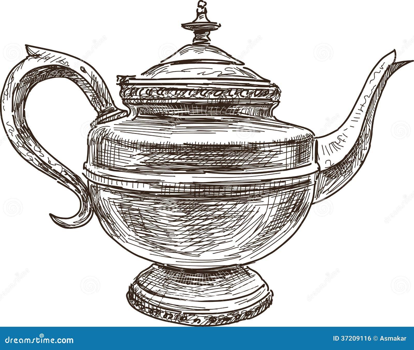 Antique Teapot Royalty Free Stock Image - Image: 37209116