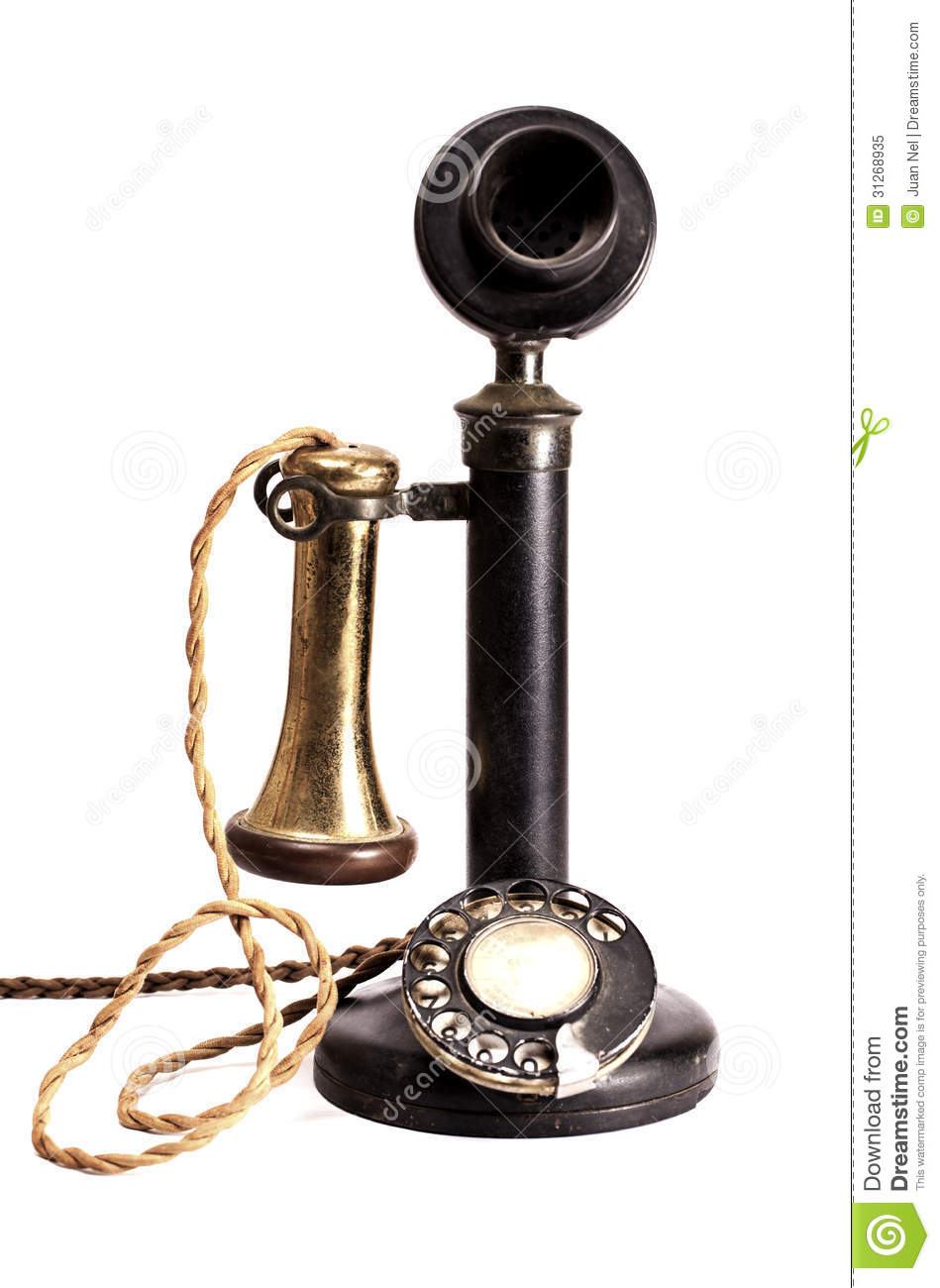 Antique telephone. stock image. Image of ancient, dial ...