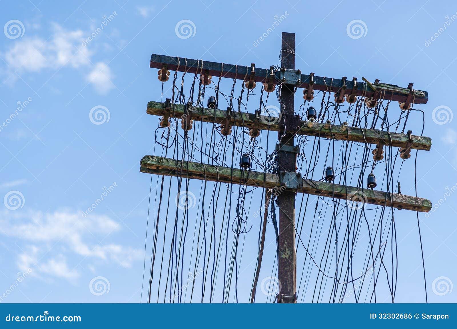 Antique telephone pole stock photo image of detailed for Glass telephone pole insulators