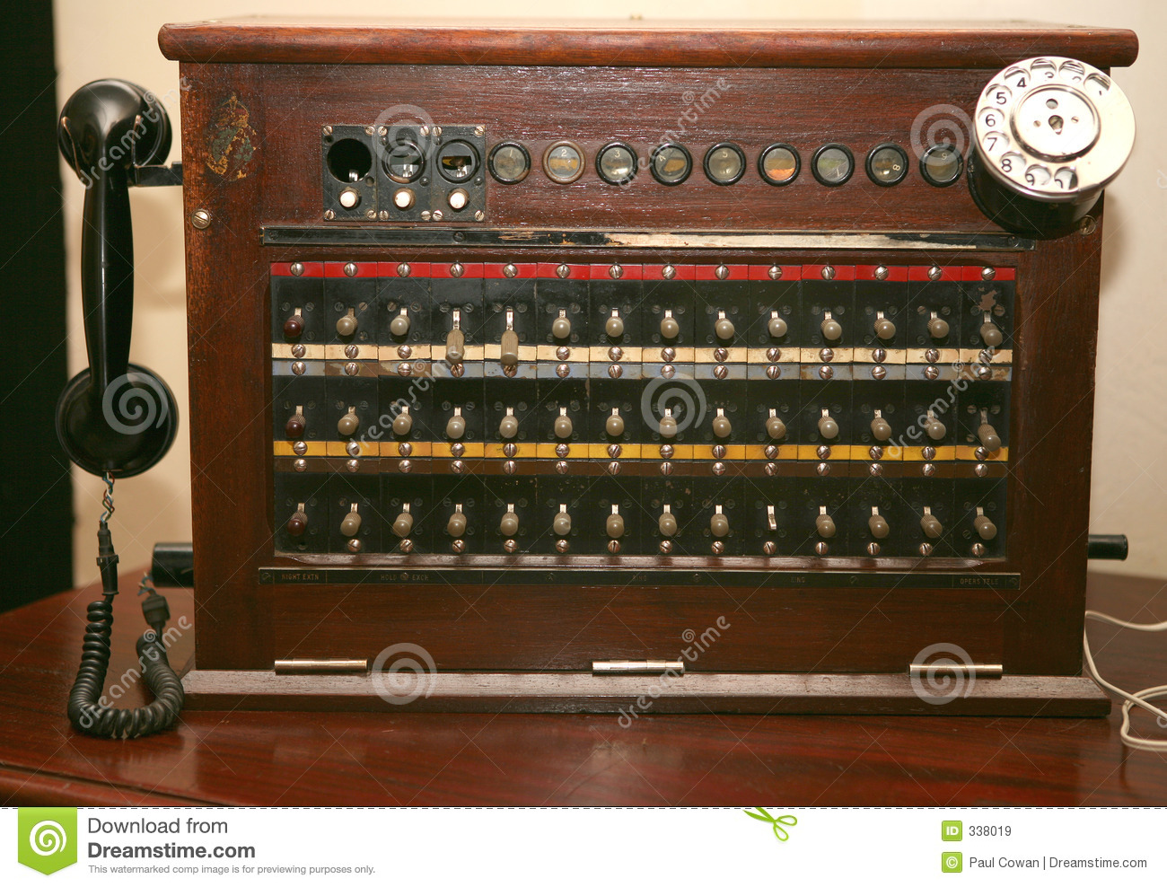 Antique Telephone Switchboard Stock Image Image 338019