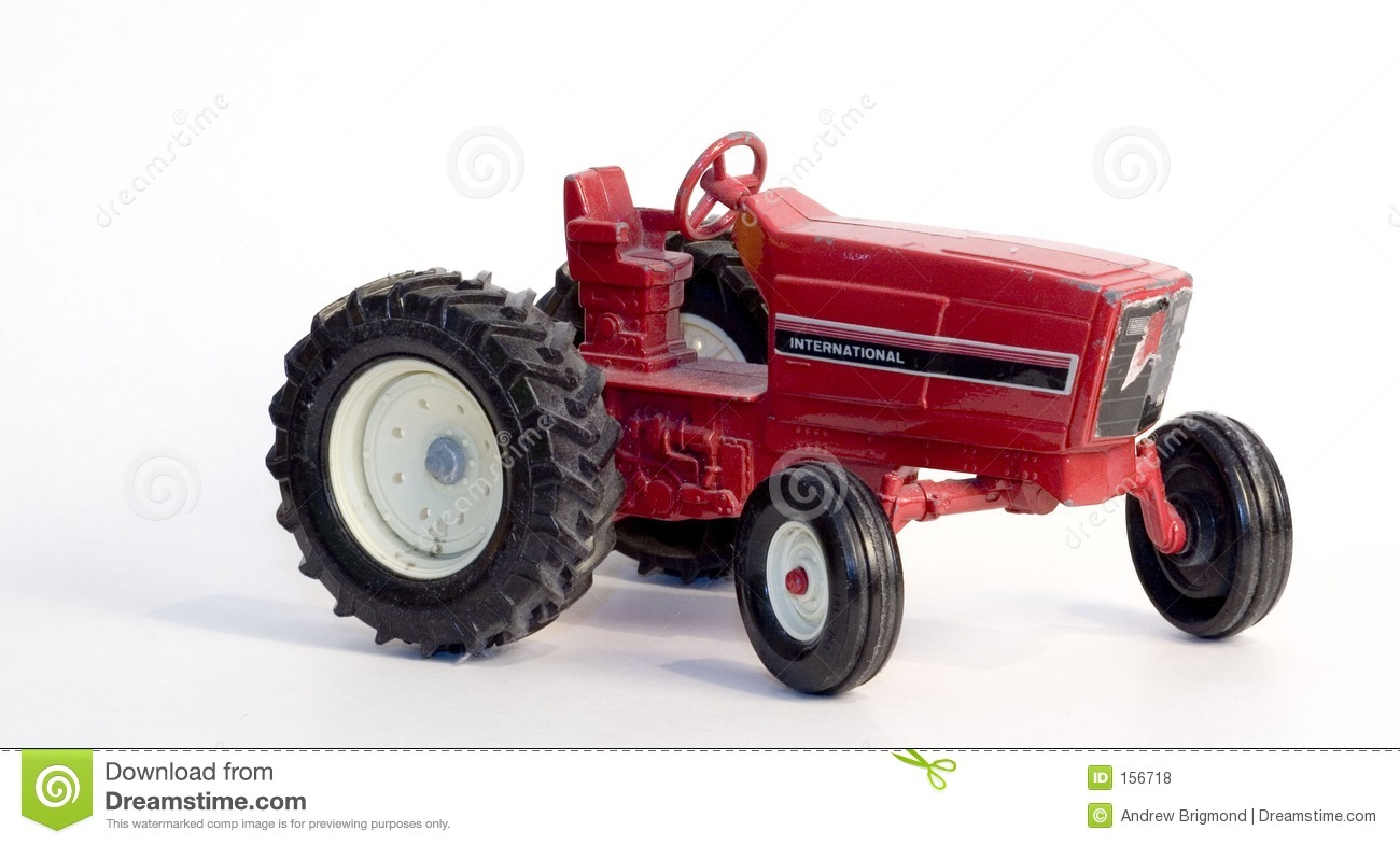 Metal Toy Tractors >> Antique Toy Tractor stock photo. Image of farm, antique - 156718