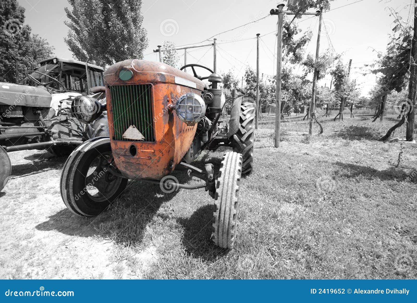Vintage Tractor Cartoon : Old tractor colour royalty free cartoon cartoondealer