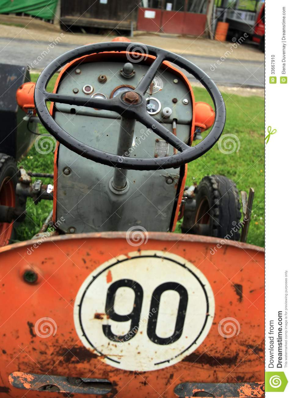 Old Time Tractor Seats : Antique tractor seat stock photo image