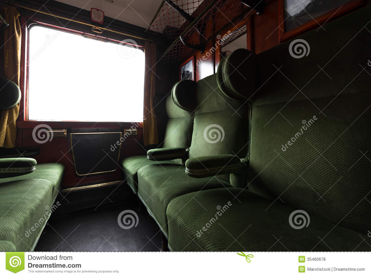 antique train interior stock photo image of journey 35460678. Black Bedroom Furniture Sets. Home Design Ideas