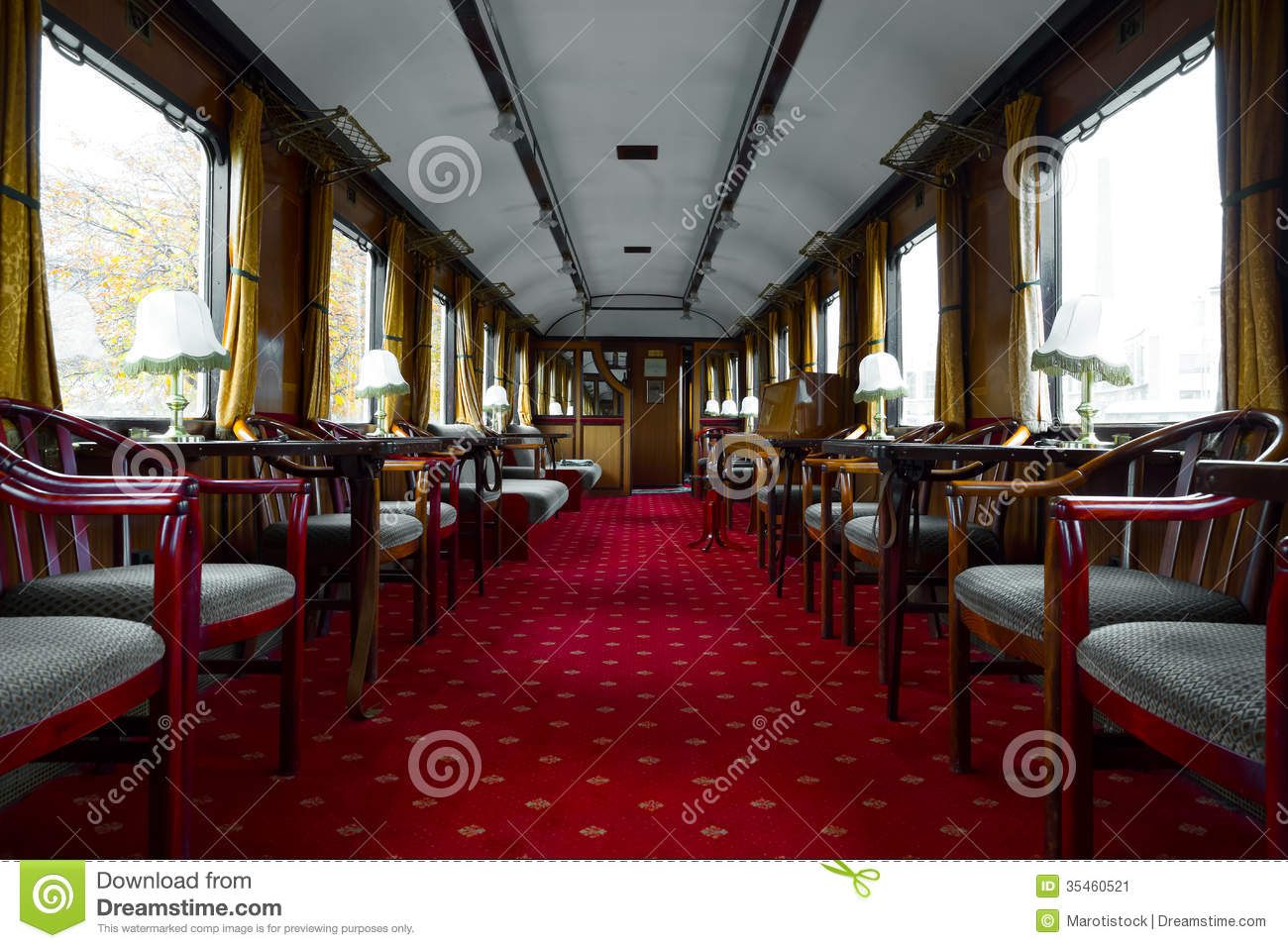 antique train interior stock image image of europe century 35460521. Black Bedroom Furniture Sets. Home Design Ideas