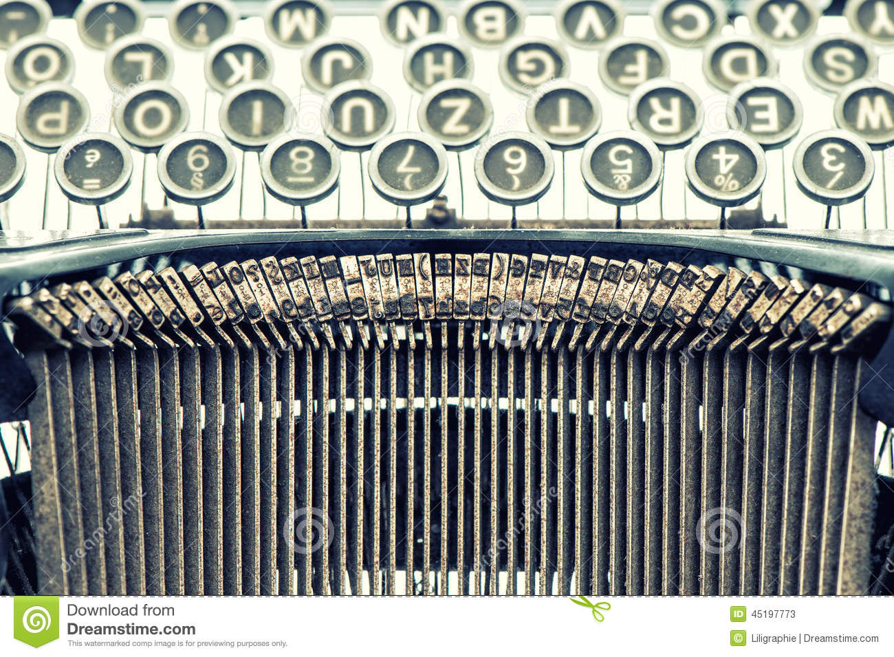 antique typewriter vintage object retro style picture stock photo image 45197773. Black Bedroom Furniture Sets. Home Design Ideas
