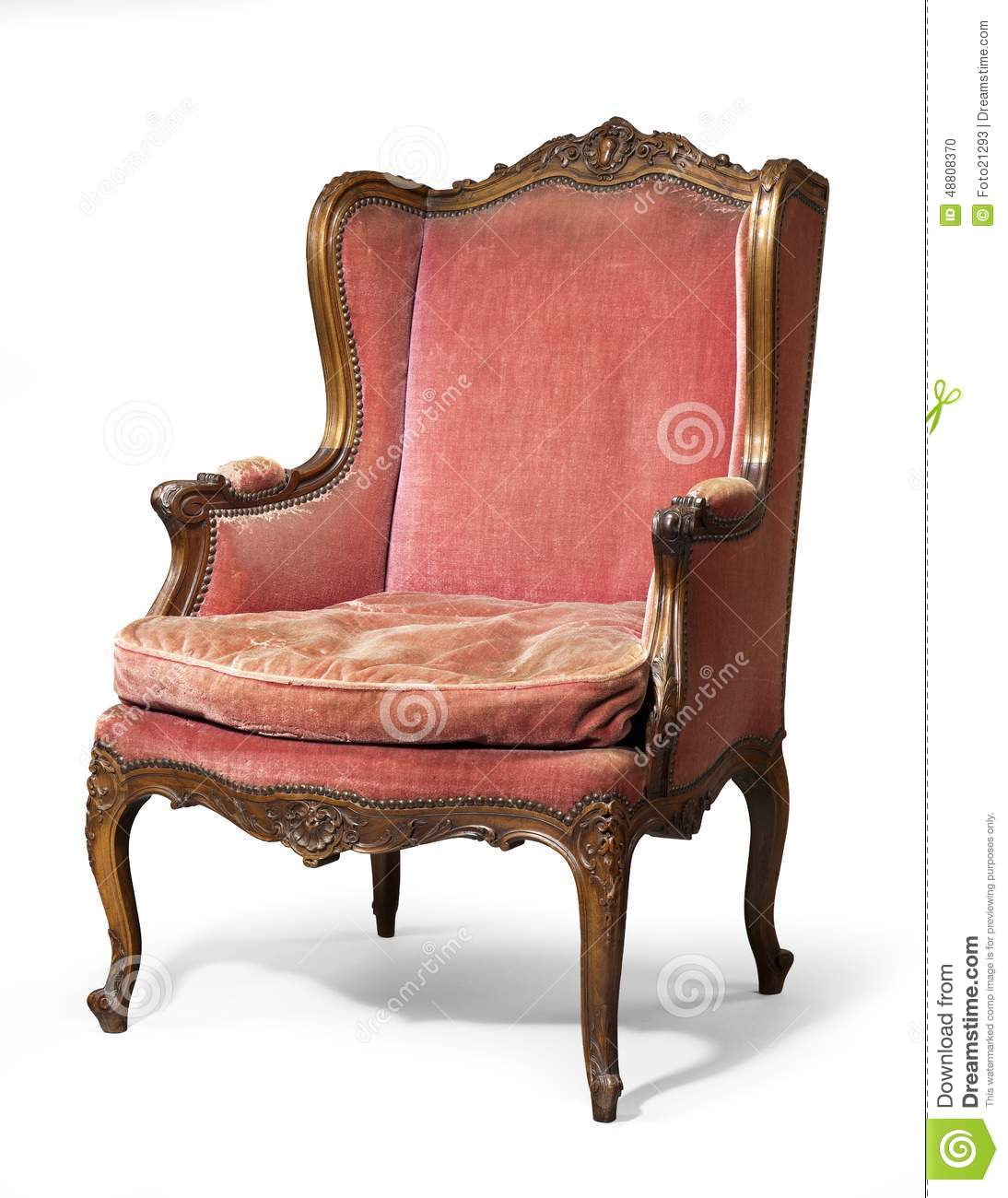 Antique upholstered chair styles - Antique Upholstered Wing Chair