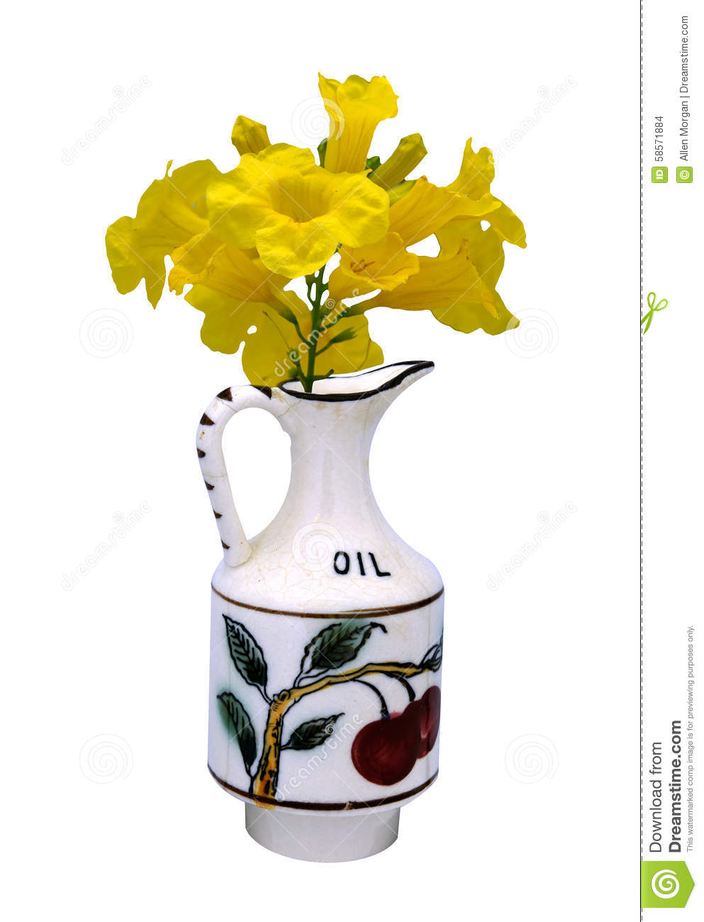 Antique Vase Hand Painted 1800 Stock Photo Image 58571884
