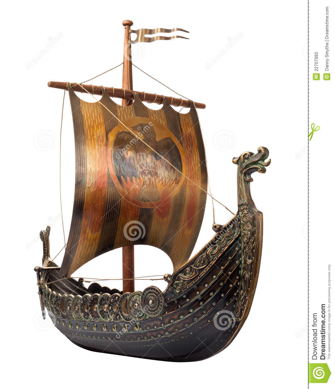 Antique Viking Ship Isolated On White Stock Photos - Image: 22707993: www.dreamstime.com/stock-photos-antique-viking-ship-isolated-white...