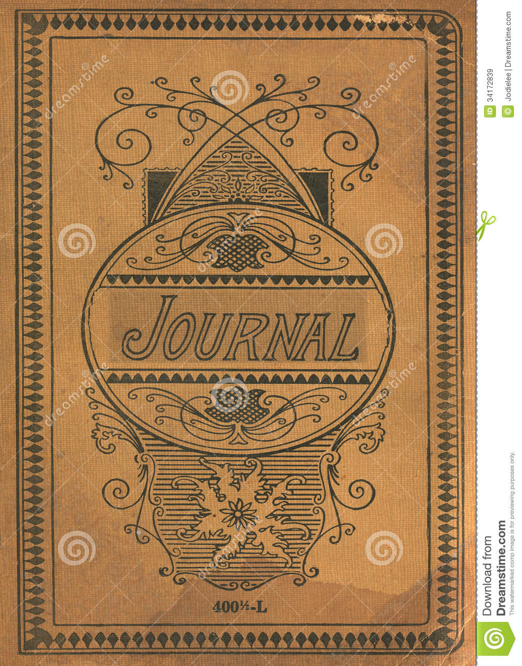 Vintage Book Cover Template : Antique vintage diary journal book cover stock image