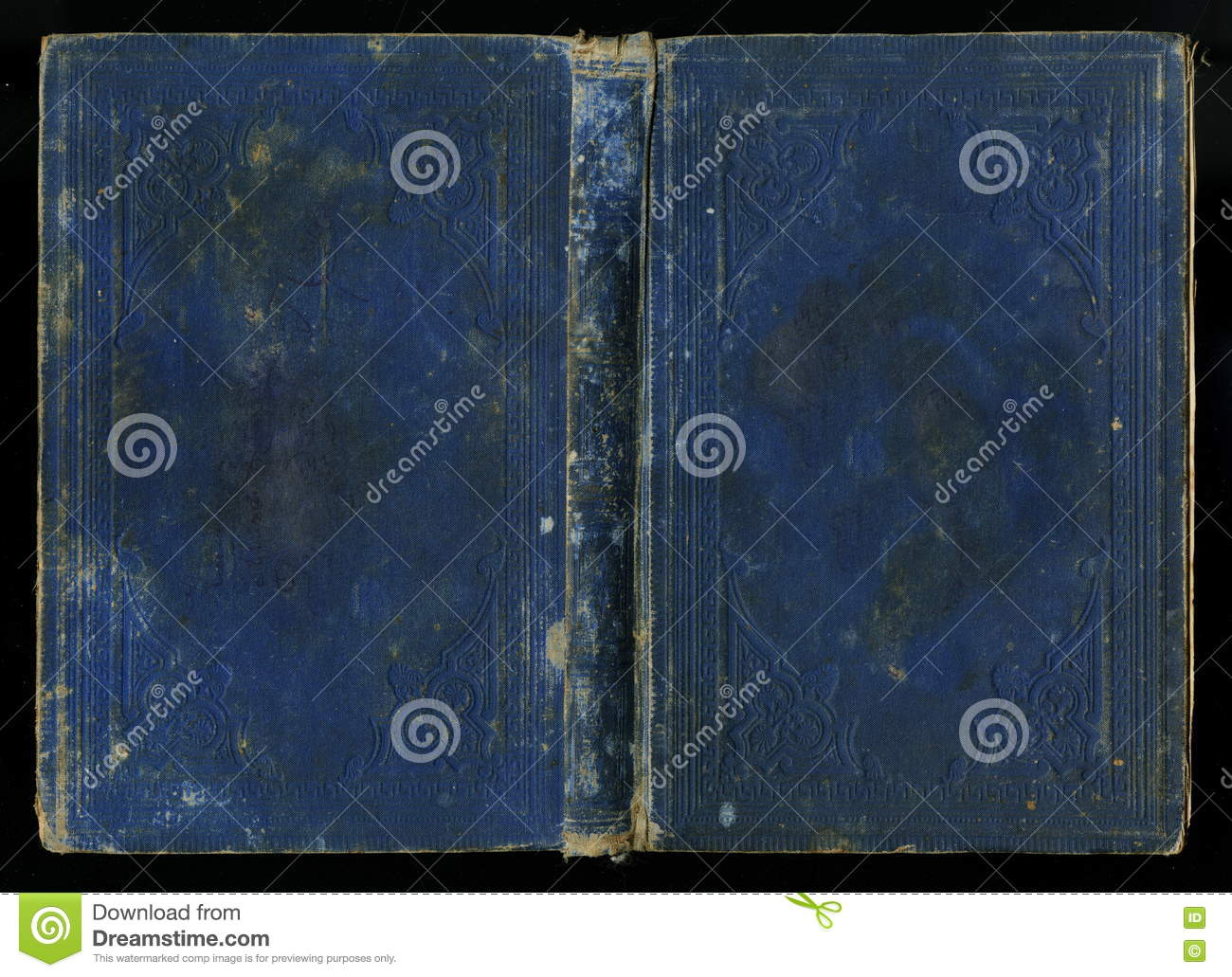 Antique Vintage Diary Journal Book Cover Stock Image - Image of ...