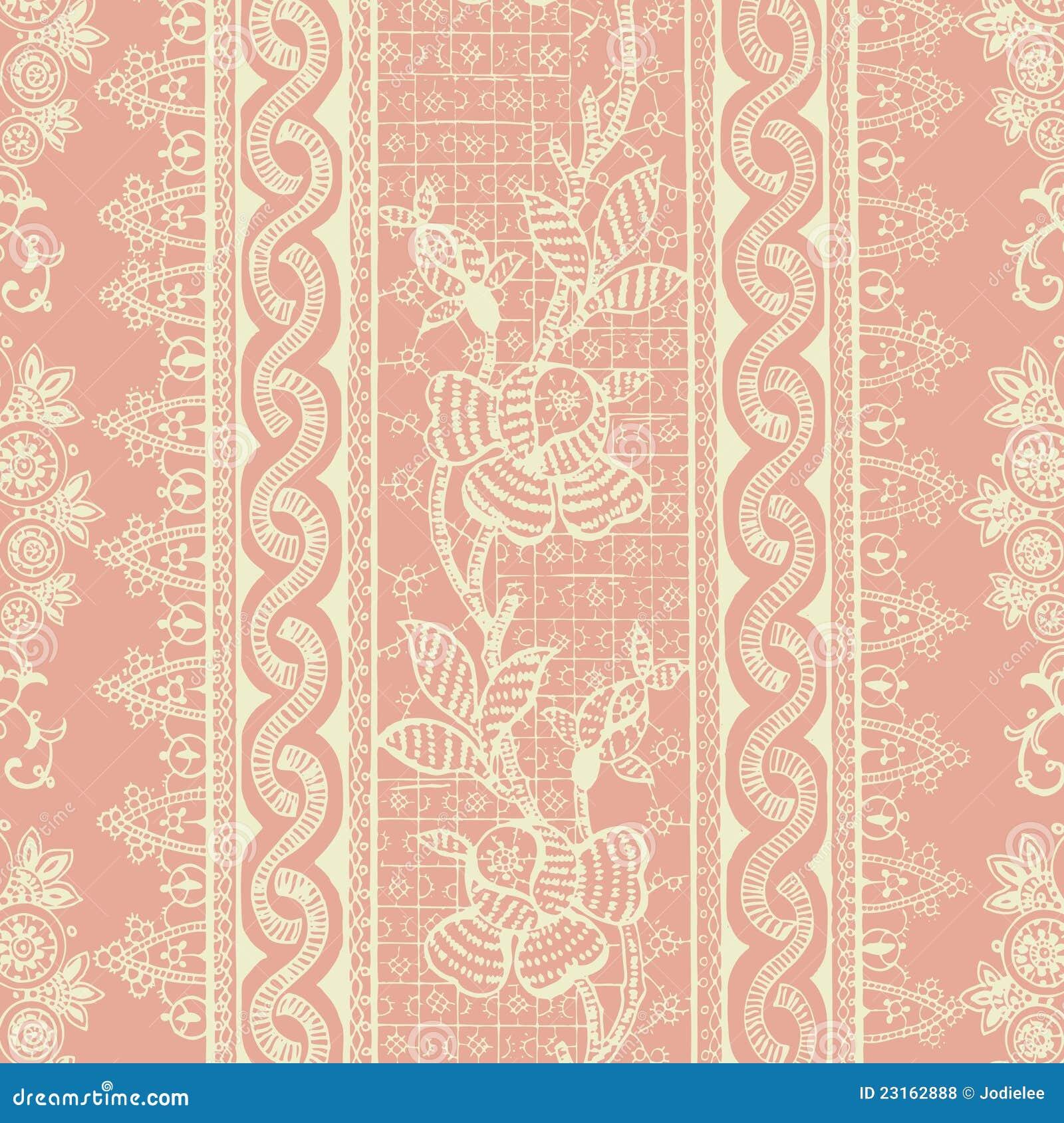 Bohemian Backgrounds: Antique Vintage Floral Bohemian Background Royalty Free